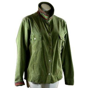 Fresh Produce womens Size L green corduroy Jacket